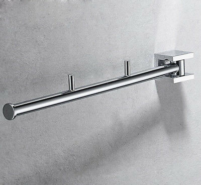 Wall Mount Brass Towel Rail Rack Holder Chrome Hanger Hooks Bathroom Accessories