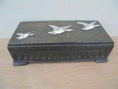 Vintage Thorens alouette Swiss music box, 3 birds on lid, no movement, box only