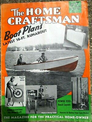 1941 The Home Craftsman May-June Issue BOAT PLANS! & Other Woodworking Projects