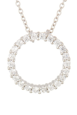 9263be4c9 NORDSTROM RACK DOUBLE LAYER Sterling Silver CZ INITIAL 'S' PENDANT ...