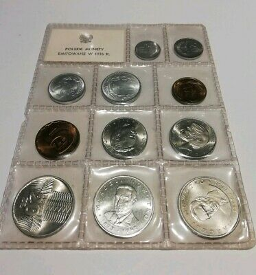 Poland 1976 Sealed Coin Set 11 X Un-Circulated - Polskie Monety