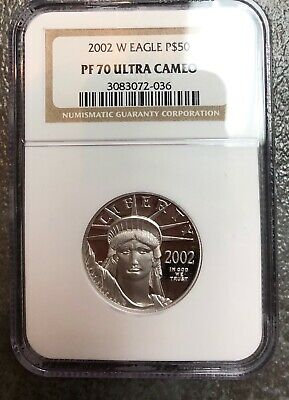 2002-W 1/2 oz American PROOF PLATINUM EAGLE PF69 NGC Brown Label