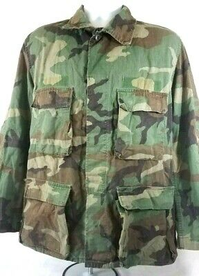 e8595fea82c83 VINTAGE US ARMY M65 FIELD JACKET BDU PARKA COMBAT ISSUE COAT CAMOUFLAGE  (c1-1