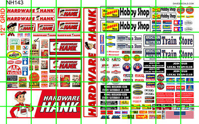 NH095 DAVE/'S 1//2 Set N SCALE BIZ FOR SALE GOING OUT OF BUSINESS SALE SIGNAGE