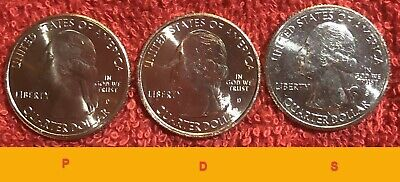 2019 PDS Lowell National Historical Park 3-Quarter Set From Mint Rolls. P D S