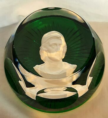 1975 Baccarat Cameo Alexander The Great Paperweight 1 Of 12 Pc Collection