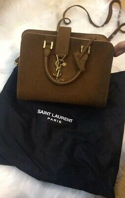 4c388ca11cc 100% AUTHENTIC YSL Saint Laurent Sac De Jour Tote Crossbody ...
