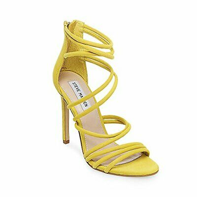 a613a4dec6 Steve Madden Womens Santi Leather Open Toe Special, Yellow Nubuck, Size  10.0 uyl