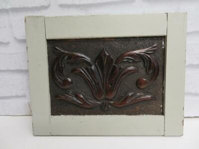 REALLY old  CARVED WOOD WALL PLAQUE