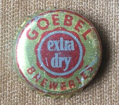 Rare VTG Goebel Extra Dry BEER CORK BOTTLE CAP CROWN