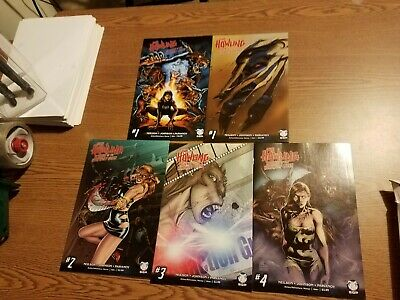 Howling Revenge of the Werewolf Queen Comic Set 1-2-3-4 + Movie Variant 1 VF/NM