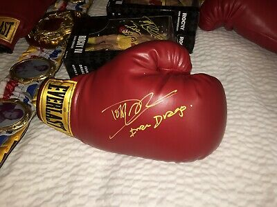 Dolph Lundgren IVAN DRAGO Signed  Autographed Everlast Glove Rocky 4 PIC PROOF