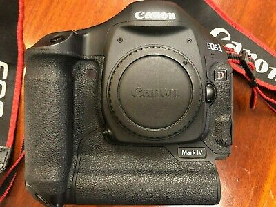 Canon EOS 1D Mark IV 16.1MP Digital SLR Camera w/ manual,charger,2 batteries & F