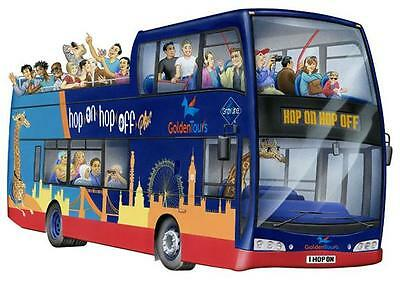 5 x ADULT ONE DAY TICKETS GOLDEN  LONDON HOP ON HOP OFF BUS TOUR OPEN TOP