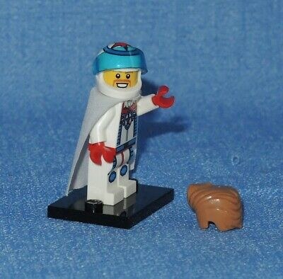 LEGO Series 7- 8831 Dare Devil Stunt Minifigure,Helmet,Hair,Cape,Dual Face~EUC