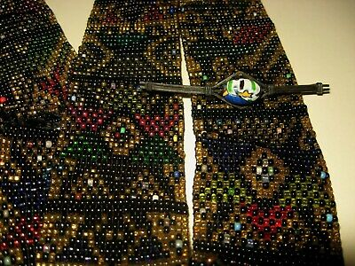 Trade Bead Belt Plains Indian Beaded Sash Pictorial Native American Antique OLD