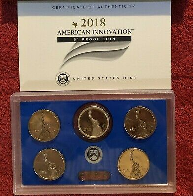 2018 $1 P D S American Innovation 5 Coin Set - P&D Position A and B! PDS