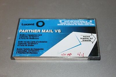Avaya AT&T Lucent Partner Mail VS 4-Port 40-Mailbox Expansion Card 107884371