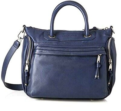 c3d04d7e2 Liebeskind Berlin Leather Stachel Moroni Handbag Blue with Dust Cover NEW W  TAGS