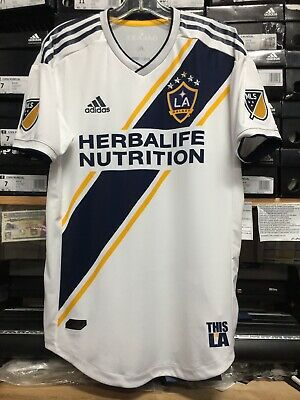 c1507cda299 Adidas New Mls La Galaxy Home Jersey 2019 White Name Authentic Size Small  Only