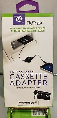 Smartphone Retrak Cassette Adapter- MP3, Android, Iphone, Ipod, Ipad
