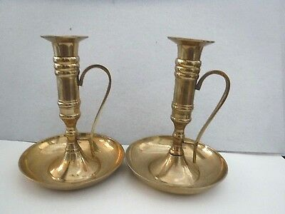 Brass Candle Holders - Made In India - Good Condition