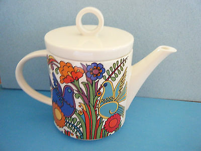 "Villeroy & Boch Acapulco (Milano Shape) Coffee Pot With Lid - 5"" Tall"