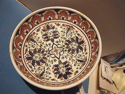 Vintage Greek Lindos, Rhodes Handmade& Painted Ceramic Pottery Decorative Bowl