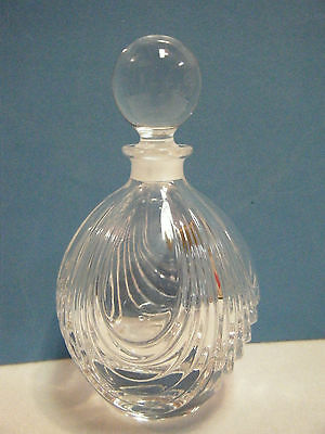 Vintage Royal Crystal Rock Miniature Di Cristallo Rosa Perfume Bottle