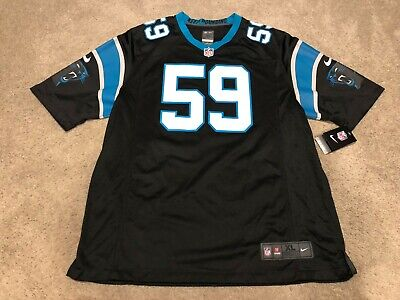 sneakers for cheap bc5bc dcd19 NIKE NEW LUKE Kuechly Carolina Panthers NFL Jersey NWT Mens XL Jersey