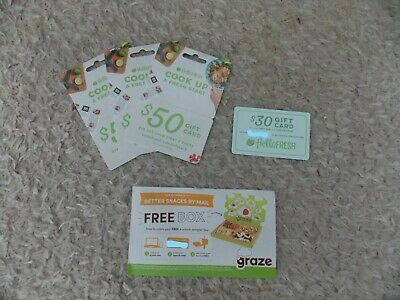 3 $50 1 $30 Hello Fresh Gift Card, Free Graze Snack Box Coupon $25 off 2 boxes