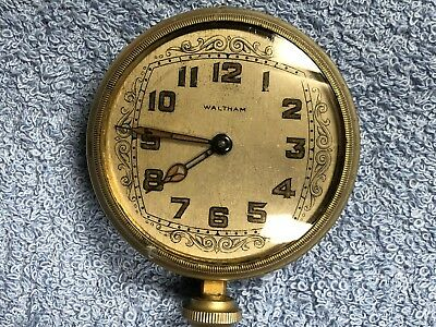 Vintage 8 Day Waltham Car  /  Auto Clock 2.75""