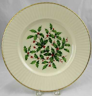 Lenox Holiday Special Holly Berry Gold Trimmed Scalloped Dinner Plate (s) 10-7/8