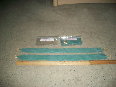 *NEW* 2 Pairs Of Green Curtain Tie-Backs 22 Inches Long And 2 Inches Wide