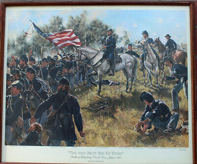 Don Troiani The Men Must See Us Today Signed Ltd Ed Print Framed Civil War