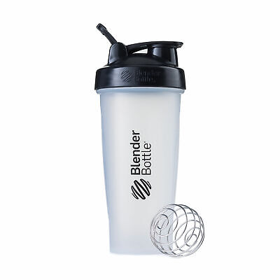 BlenderBottle Classic 28 Oz - Clear Black