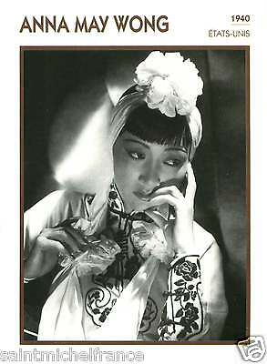 ANNA MAY WONG ACTRICE ACTRESS FICHE CINEMA USA 90s