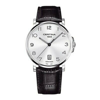 Certina DS Caimano C017.410.16.032.00 silver dial with numbers