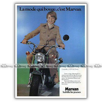 PUB SUZUKI RV 50 VAN-VAN & Vêtements MARVAN - Moped Ad / Publicité Cyclo de 1978