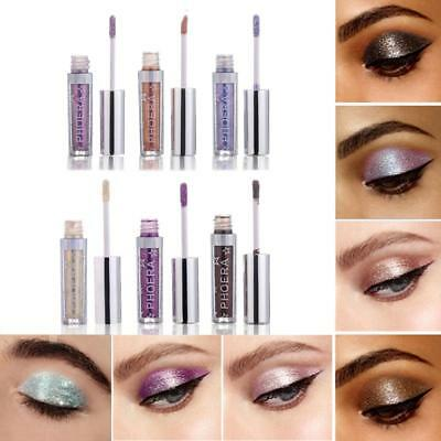12Colors Shimmer Glitter Liquid Eyeshadow Waterproof Eyeliner Gel Makeup Good@