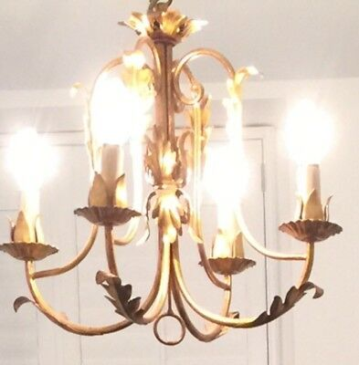 Antique Vintage French Gold/ Gilt Chandelier