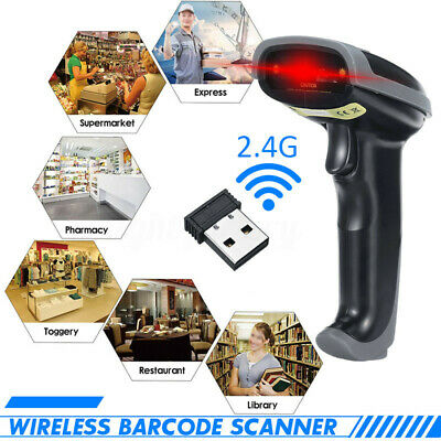 2.4G USB Wireless Laser Barcode Scanner Cordless Portable Bar Code Reader POS