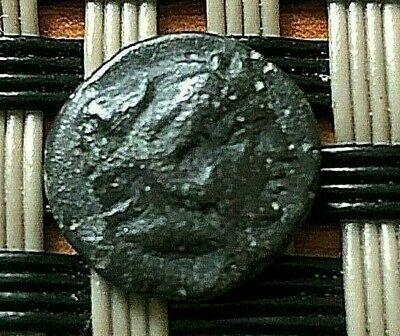 "Pergamon, Mysia 300Bc Ae10 Chalkoi ""herakles & Athena"" Ancient Greek Bronze Coin"