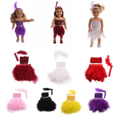 Doll Clothes Themed Party Feather Costume for AG American Doll 18 inch Dolls