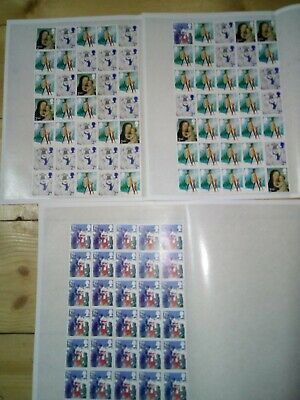 100 x 2nd CLASS POST 2012 STAMPS UNFRANKED OFF PAPER £61 FACE VALUE 61p   (159)