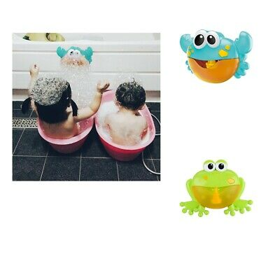 Music Bath Bubble Maker Machine Crab Frog Shape Automatic Toy for Baby Kids