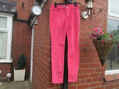 Boden  Pink Soho Skinny Cord Trousers Size  10 Petite