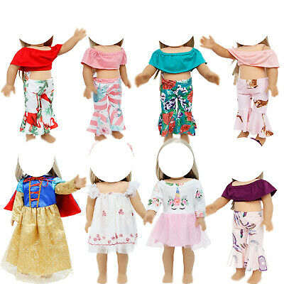 Outfit Fashion Dress Skirt Pants Clothes for 18 Inch American Girl Doll