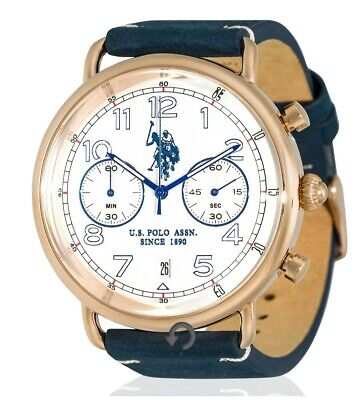 MONTRE cuire bleu U.S POLO ASSN SINCE 1890 Original