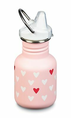 Klean Kanteen - 355ml Sippy Millennial Hearts - Kids Spill Proof Bottle